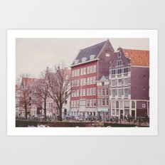 Amsterdam love Art Print