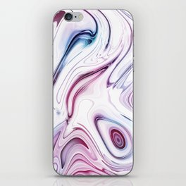 Liquid Marble - Pink and Blue iPhone Skin