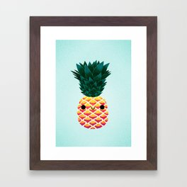 Cute Pineapple Framed Art Print