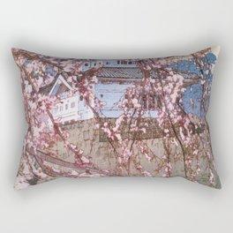 Yoshida Hiroshi - Cherry Blossoms 8scenes, Hirosaki Castle - Digital Remastered Edition Rectangular Pillow