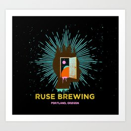 RUSE BREWING - THOUGHT FREQUENCY Art Print