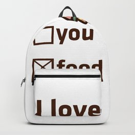 Fries Burger love eating fast food fat gift Backpack