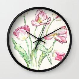 Triumph Tulips Wall Clock