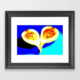 Big Fig Heart Framed Art Print
