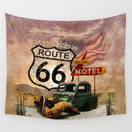 Get your Kicks on Route 66 Wall Tapestry