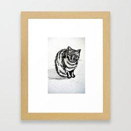 lolita cat Framed Art Print
