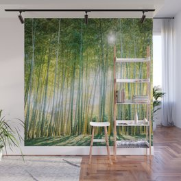 Japanese Bamboo Forest Fine Art Print Wall Mural
