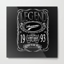 Vintage Legend Awesome 1993 Born To Be Wild Metal Print