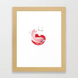 Talk Shit Framed Art Print
