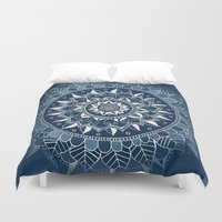dark side of the moon Duvet Covers featuring The Dark Side of the Moon by Tangerine-Tane