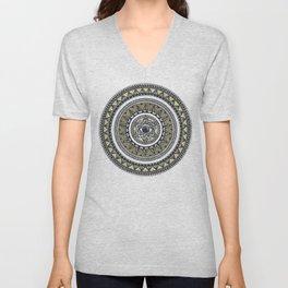 Golden Eye Mandala Unisex V-Neck