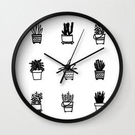 Little Plants Wall Clock