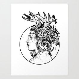 Ink Fauna Art Print