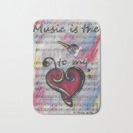 Music is Key 1 Bath Mat