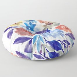 hand painted flowers_3c Floor Pillow
