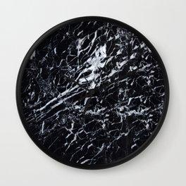 Marble Black Texture Wall Clock