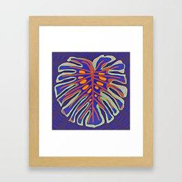 Monstera Flying to Summer Framed Art Print