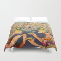 technology Duvet Covers featuring Apocalypse by Technology by Lennon Michalski