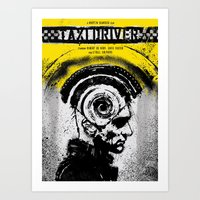 taxi driver Art Prints featuring Taxi Driver by Dan K Norris