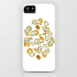 The Yellow Meows iPhone Case