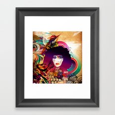 Afro Girl Framed Art Print