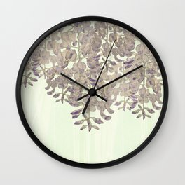 Wisteria - a thing of beauty is a joy forever Wall Clock