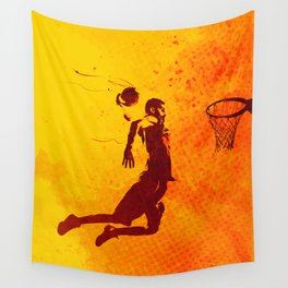 Heat of Basketball#2 Wall Tapestry