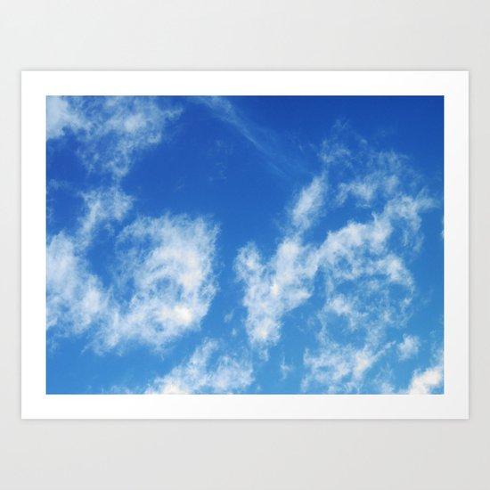 LOVE it's in the clouds Art Print