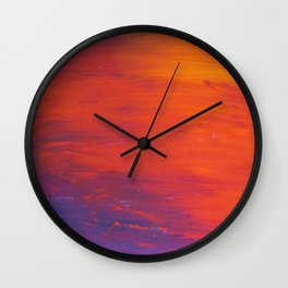 To Add Colour to My Sunset Sky Wall Clock