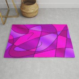 ABSTRACT CURVES #2 (Purples, Violets, Fuchsias & Magentas) Rug