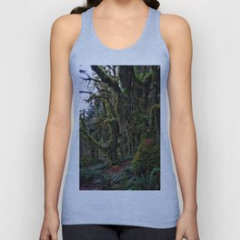 Hoh, Moss Covered Trees Unisex Tank Top
