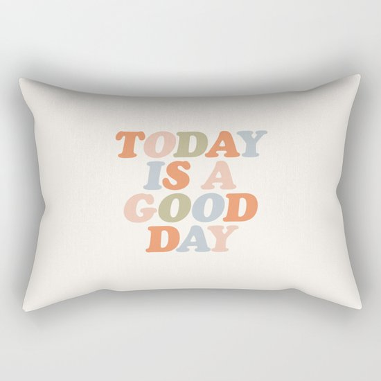 TODAY IS A GOOD DAY peach pink green blue yellow motivational typography inspirational quote decor by themotivatedtype