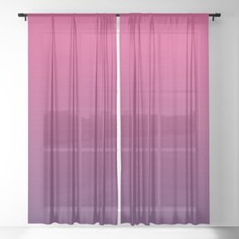 Pink & Purple colors ombre abstract pattern  Sheer Curtain