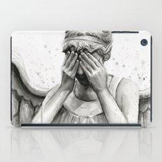 Weeping Angel Watercolor Painting iPad Case