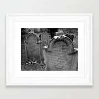 jewish Framed Art Prints featuring Jewish Cemetary, Worms Germany by Sugar Skulls Photography