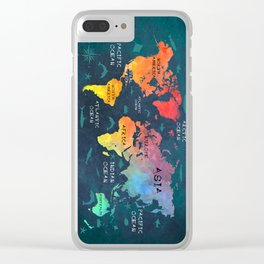 world map 49 color Clear iPhone Case