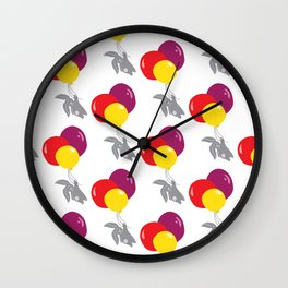 bunny on the balloon pattern Wall Clock