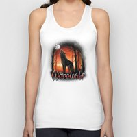 werewolf Tank Tops featuring Werewolf by Antracit