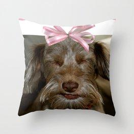 Smile, puppy, smile Throw Pillow
