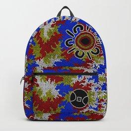 Authentic Aboriginal Art - Waterholes Corela Backpack