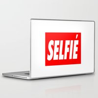 selfie Laptop & iPad Skins featuring Selfie by Poppo Inc.