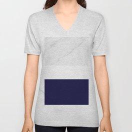 Marble Royal Blue White Color Block Modern Geometry Unisex V-Neck