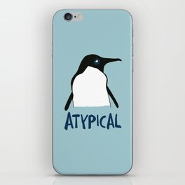 Atypical penguin iPhone Skin