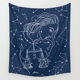 Libra zodiac sign Wall Tapestry