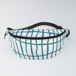 Net Blue on White Fanny Pack