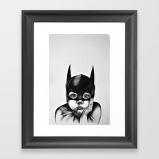 Waiting For a Hero (Bat Boy) Framed Art Print