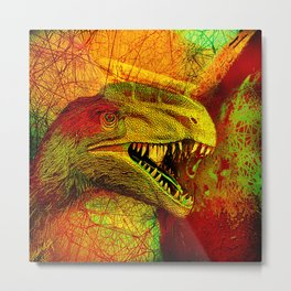 prehistoric extiction   (This Artwork is a collaboration with the talented artist Agostino Lo coco) Metal Print