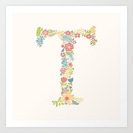 Alphabet T Art Print