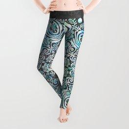 Mermaid Mandala on Deep Gray Leggings