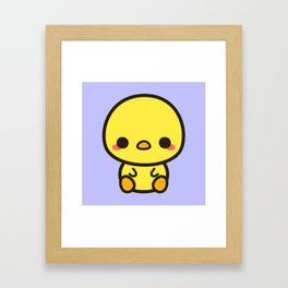 Cute chick Framed Art Print